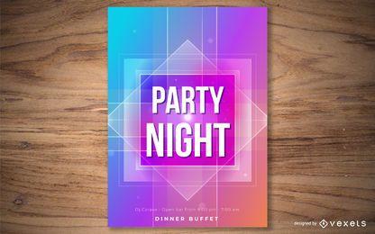 Plantilla de póster de noche de fiesta