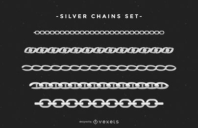 Silver Chains Set