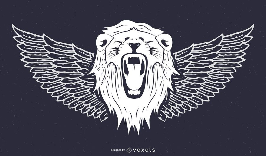 Lion Head and Windgs