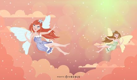 Fairy Angels Illustration