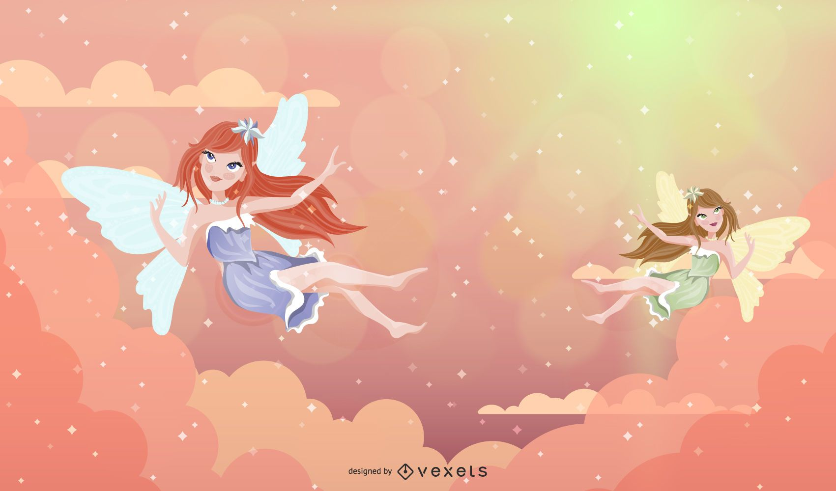 Fairy Angels Illustration