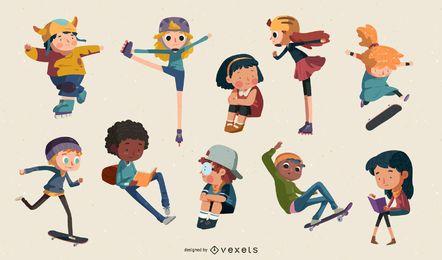 Mega Pack de ilustración vectorial de dibujos animados