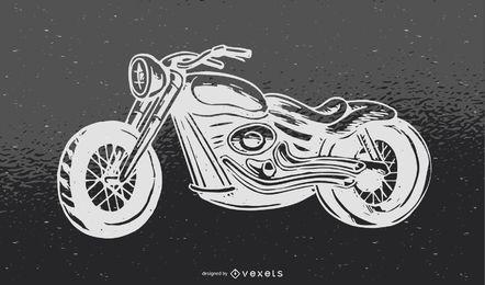 Ilustración vectorial de motocicleta