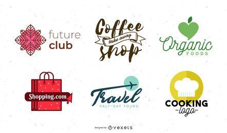 Pack de diseño de logotipo vectorial