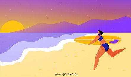 Beach Surf Graphics