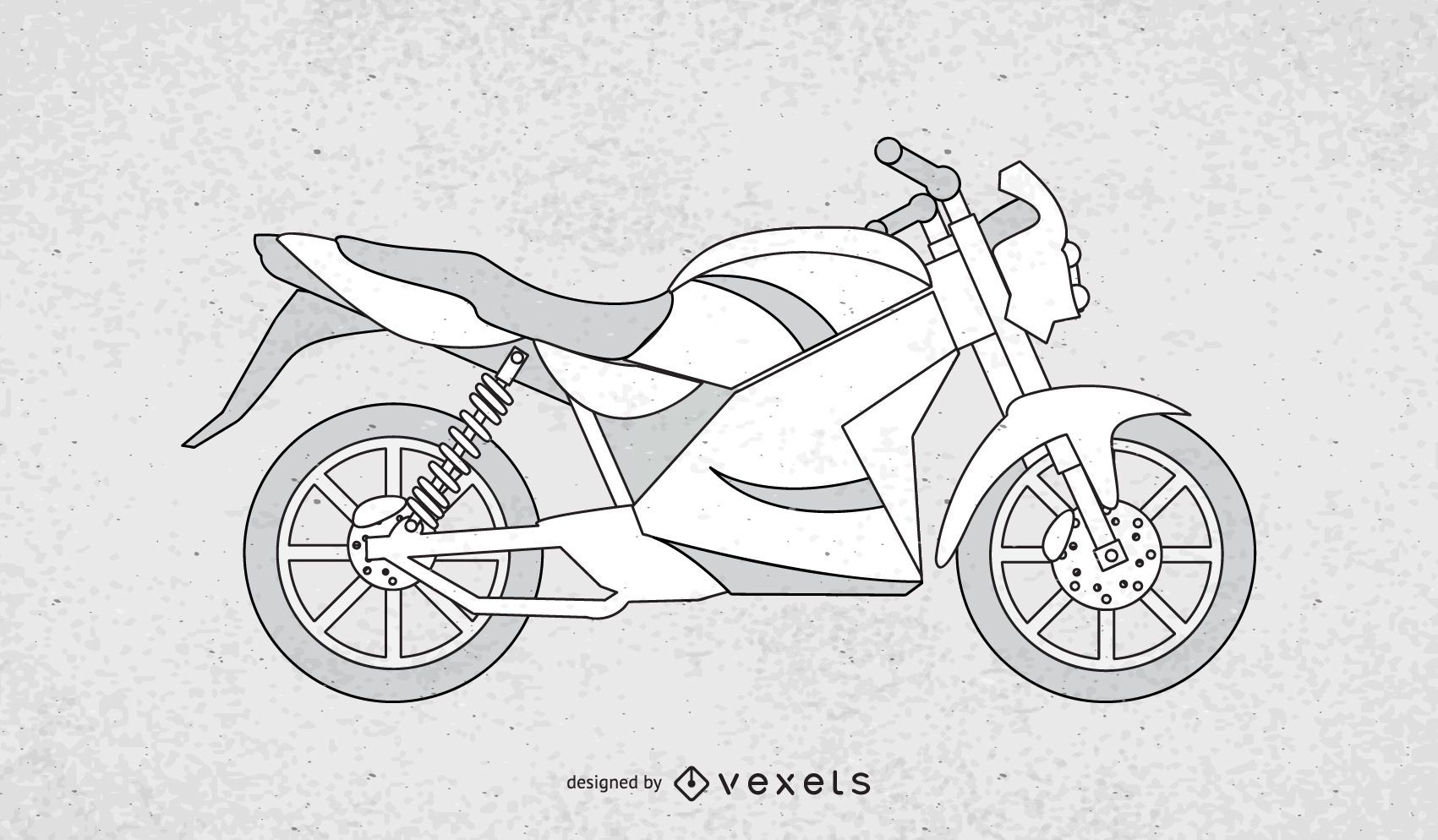 Black and white Motorcycle vector