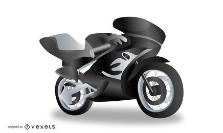 Realistic Motorcycle Vector