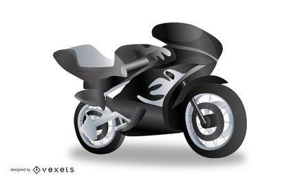 Vector realista de la motocicleta