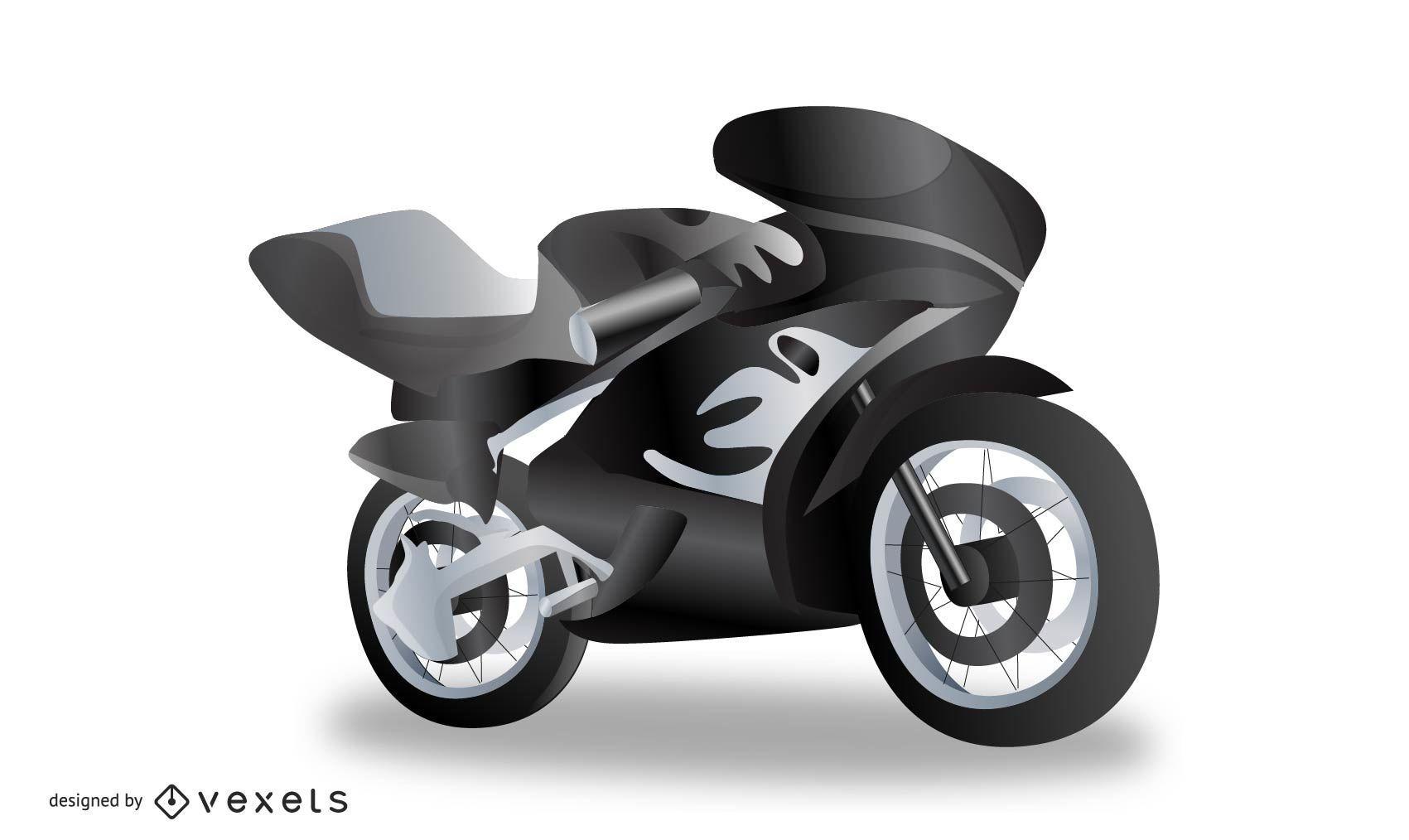 Realistic Motorcycle Vector
