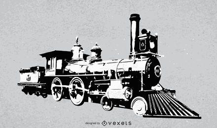 Vetor de locomotiva