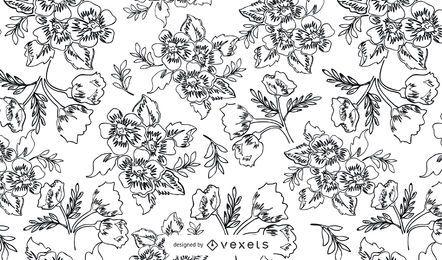 11 patrones de vectores de grabados de plantas antiguas