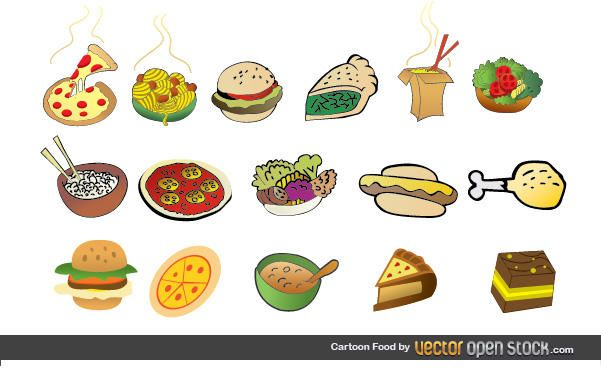 Cartoon-Lebensmittel