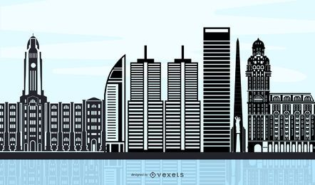 El horizonte de la ciudad