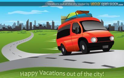 Vacaciones fuera de la ciudad