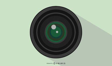 Ilustração de lente de abertura