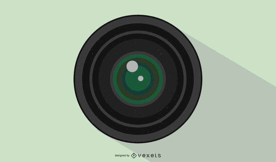 Ilustración de la lente de apertura