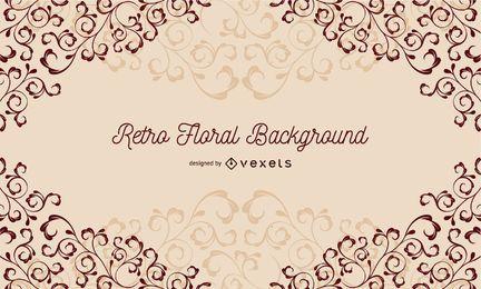 Fondo floral retro del vector