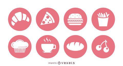 25 símbolos vectoriales de comida