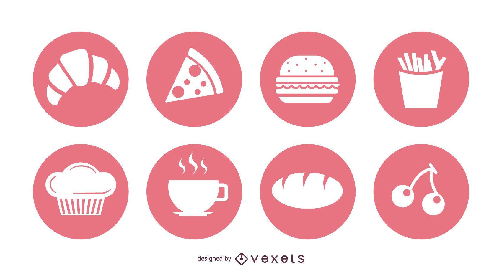 25 Food Vector Symbols