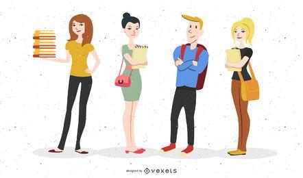 Estudiantes gráfico vectorial