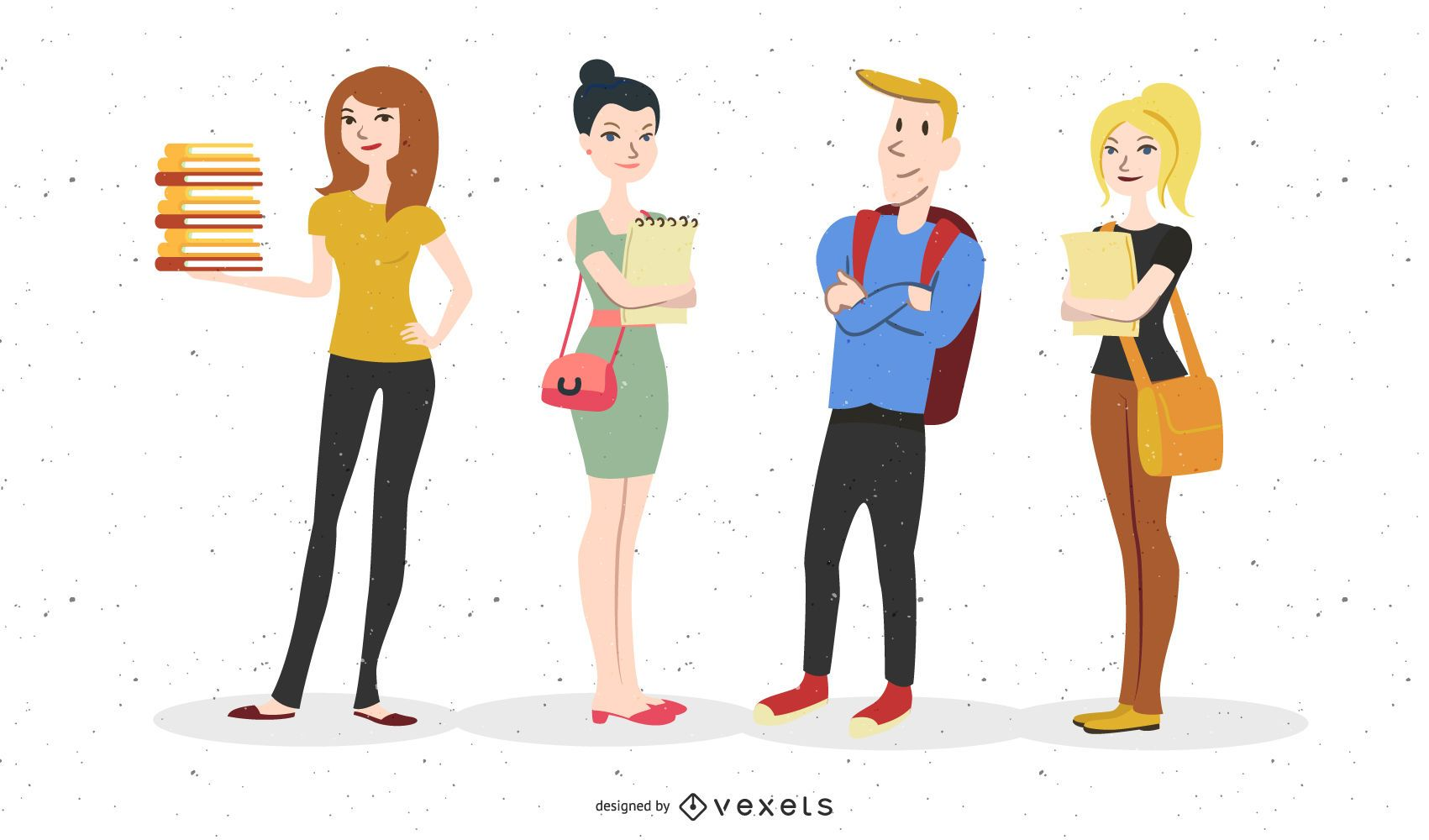 Students Vector Graphic