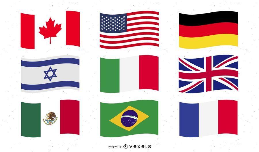 Welt-Nationalflagge-Vektoren