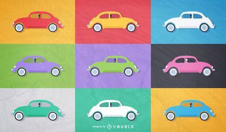 Vetores de besouro de Volkswagen