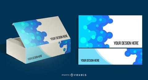 Caja de producto de software de vector libre