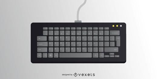 Vector negro teclado