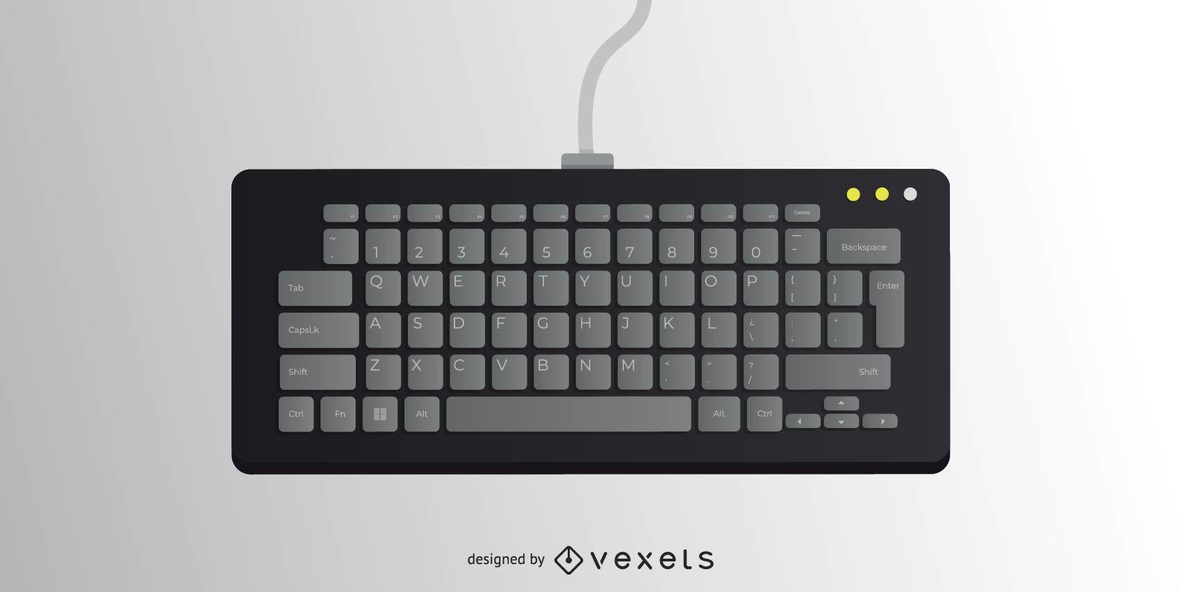 Vector teclado negro