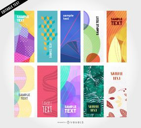10 banners verticales vectoriales