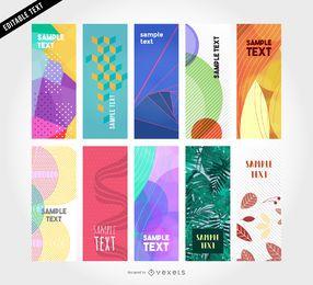 10 plantillas de banner vertical vector