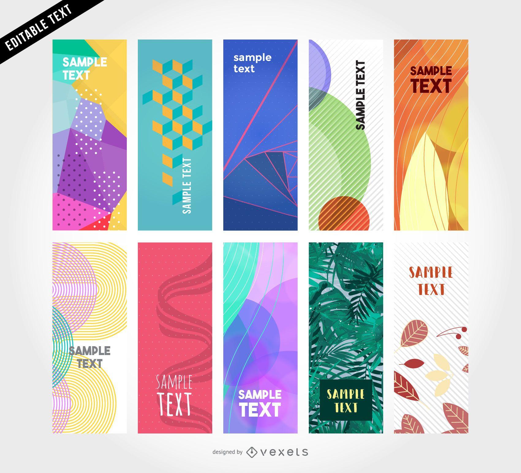 10 vector vertical banner templates