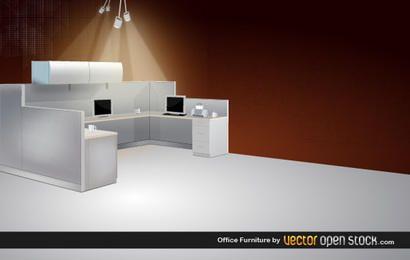 Mobiliario de oficina 3D