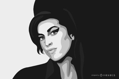 Amy Winehouse Free Vector