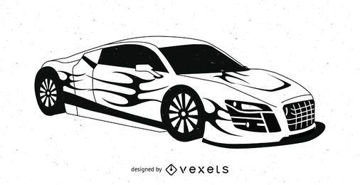 Vector de coche deportivo