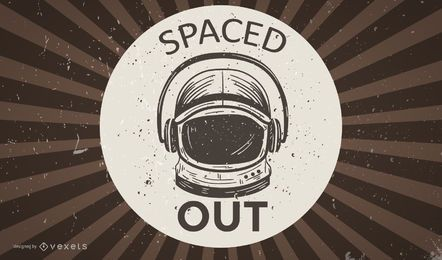 Astronaut Retro Wallpaper