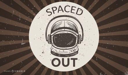 Papel de parede retrô de astronauta