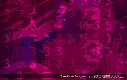 Drei Fuscia-Hintergrund