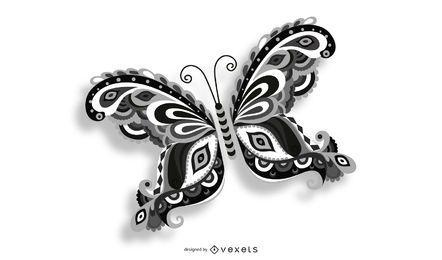Vector de mariposa voladora