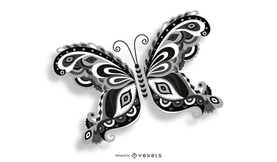 Mariposa volando vector