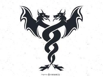 Vetor de gêmeos do dragão