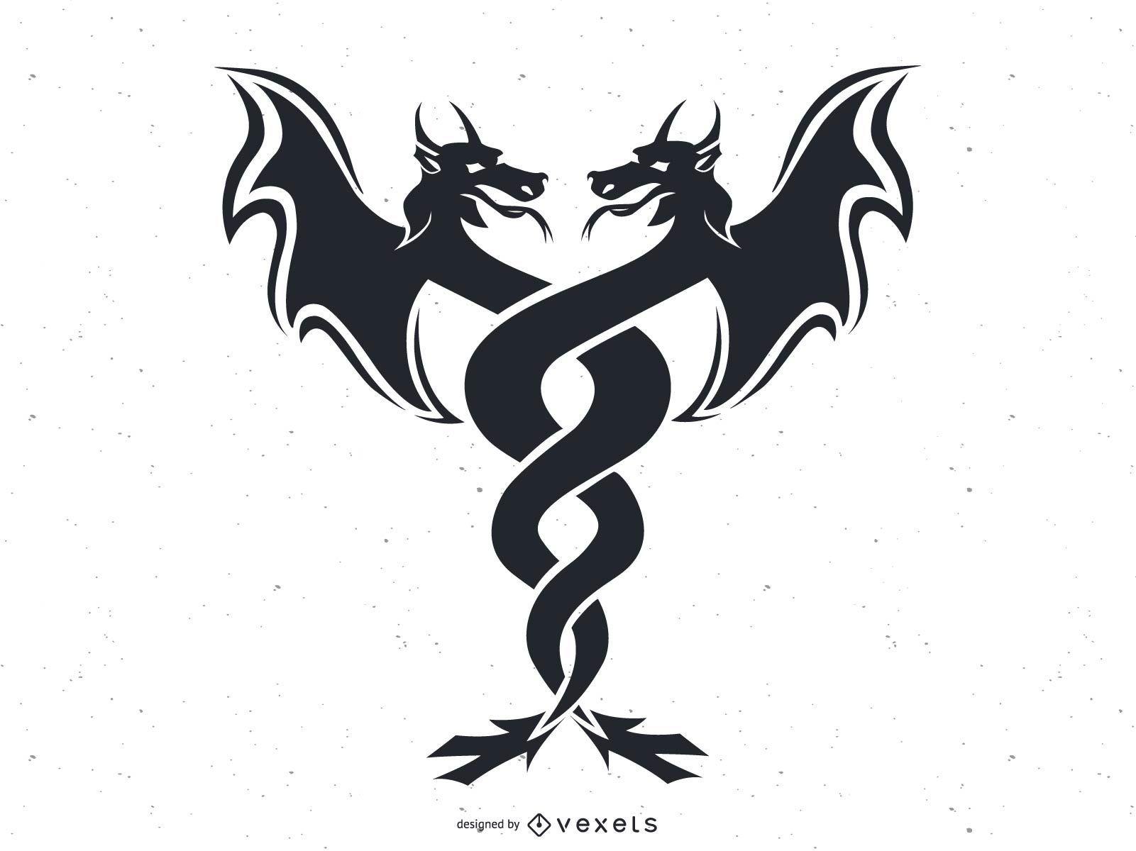Vector de gemelos de dragón