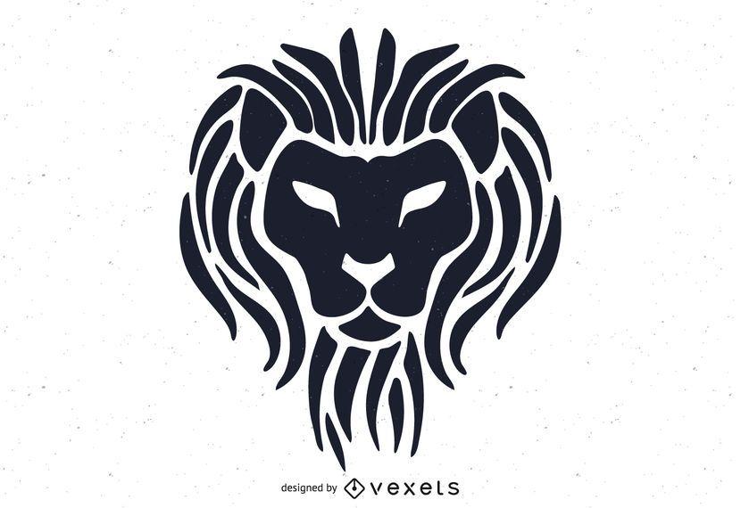 Modelo de logotipo de cabeça de leão