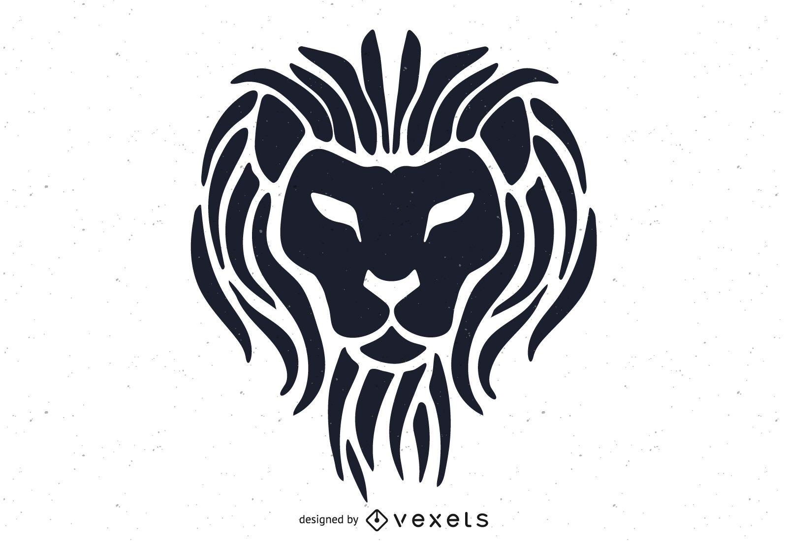 Plantilla de logotipo de cabeza de león