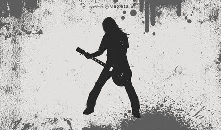 Silueta de chico de heavy metal