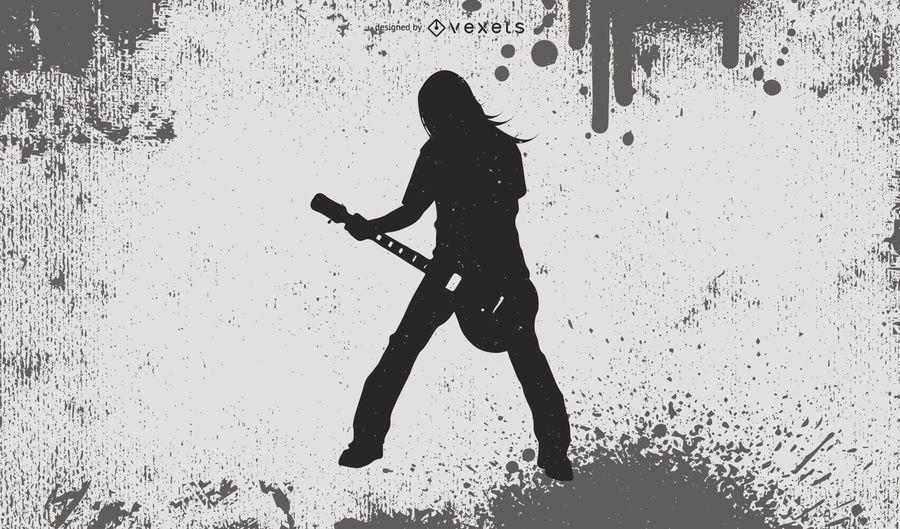 Silhueta de heavy metal cara