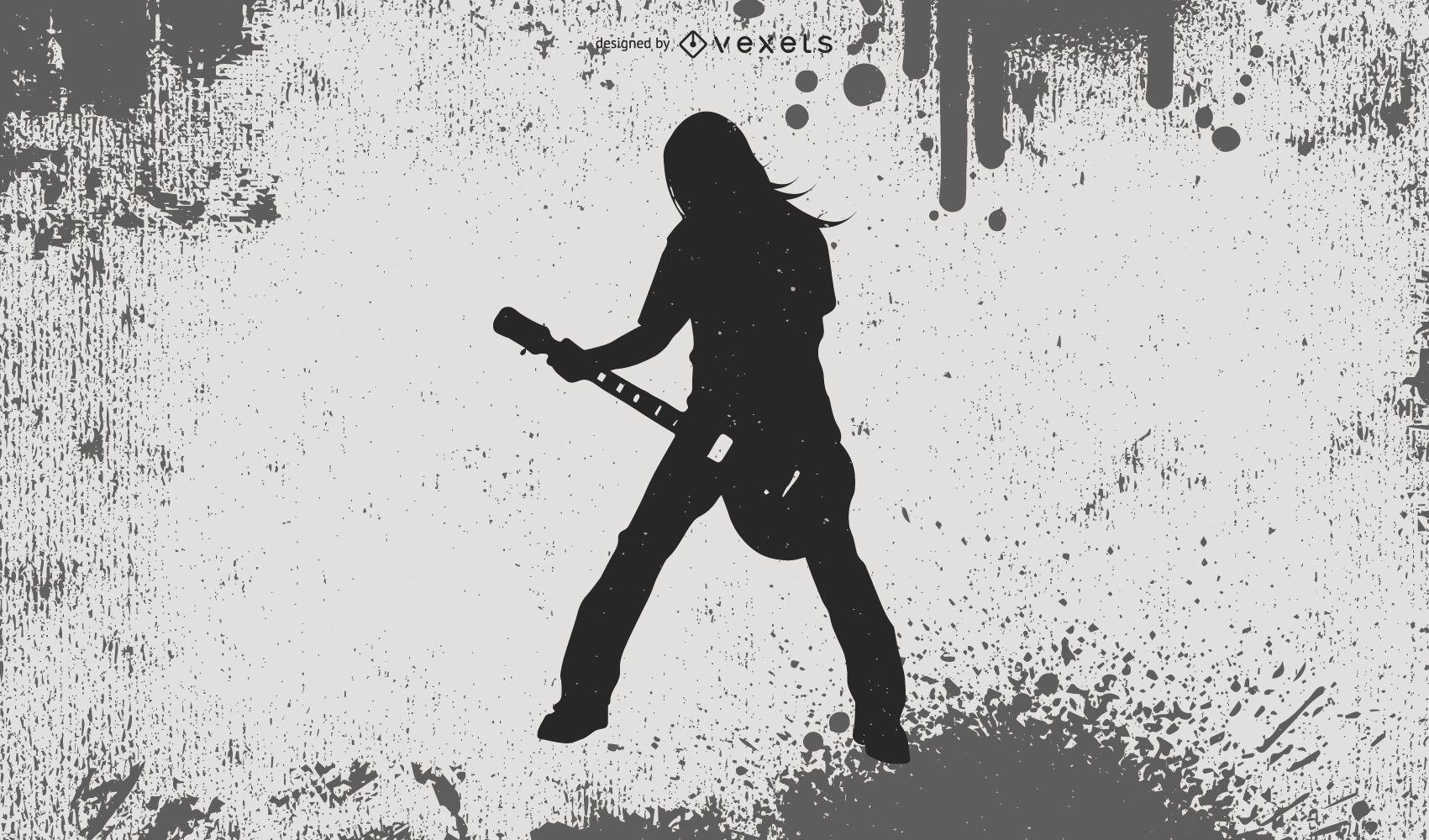 Heavy Metal Guy Silhouette