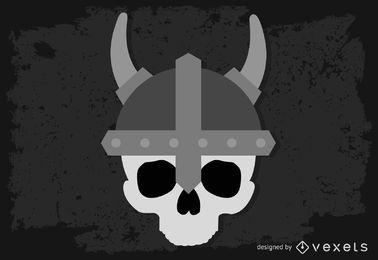 Vector cráneo vikingo