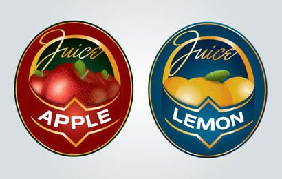 Logotipo de la etiqueta de jugo